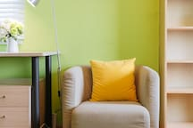 很温馨的沙发,可以阅读