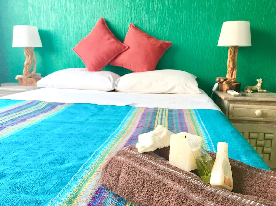 Feel ecological in our Rainforest room