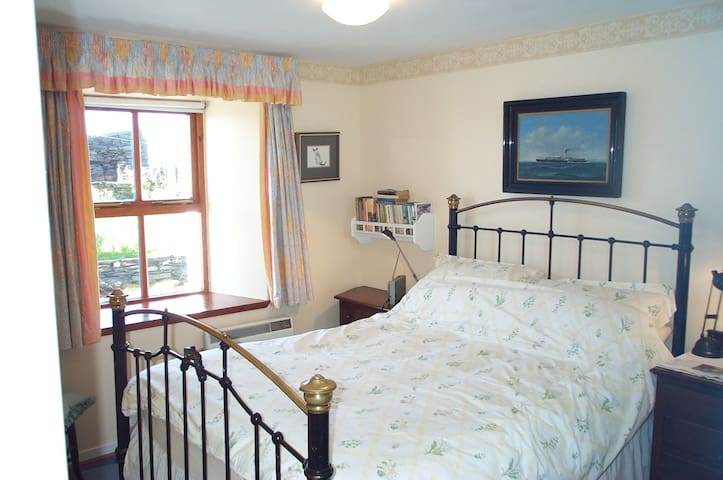 Main bedroom with metal bed