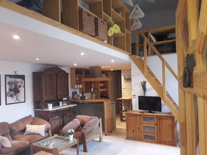 Unique loft,with a bit of Old-World charm,