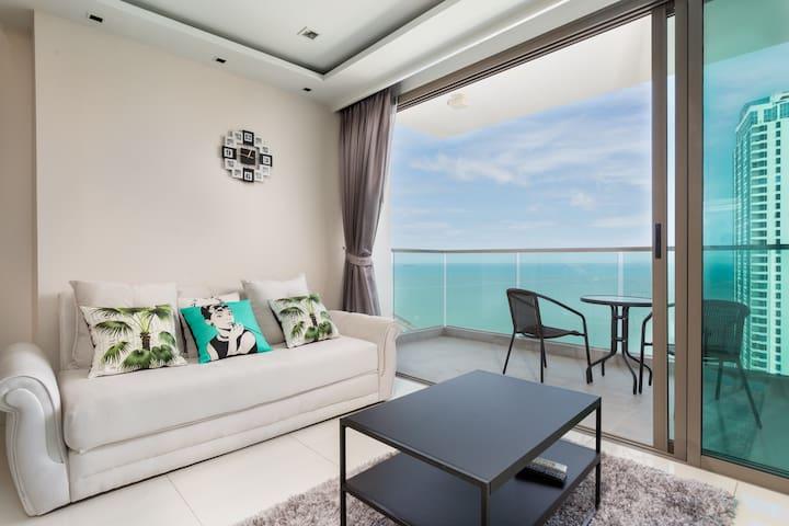 Wongamat Tower 3210 - forever sea & island views - Muang Pattaya - Apto. en complejo residencial