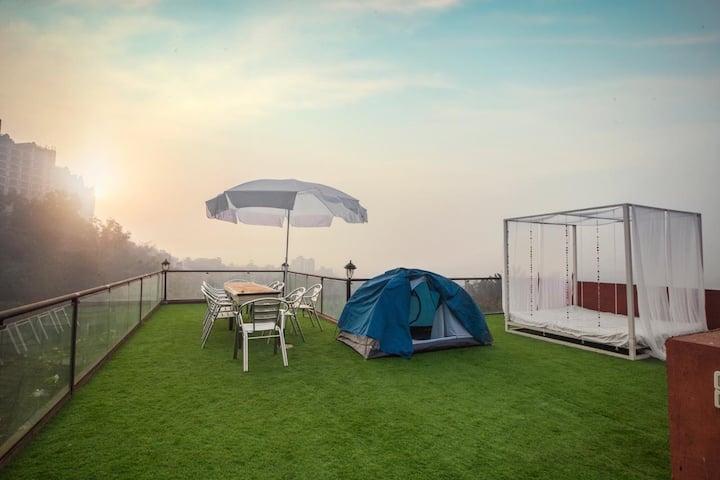 Amazin Hill top Bohemian theme Pool party bungalow