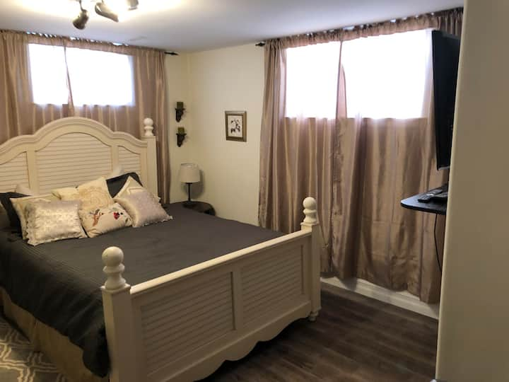 Relax and unwind in this newly renovated bedroom