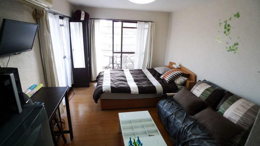 500m behind Central Station.Free parking. car rent - Kagoshima - Wohnung