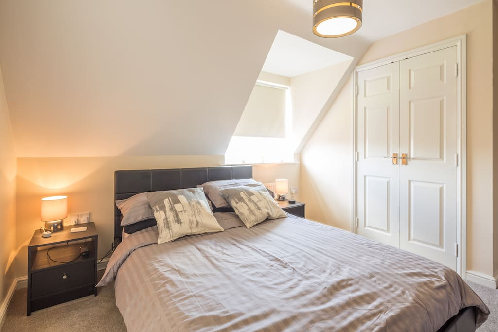 The main bedroom with built in wardrobes