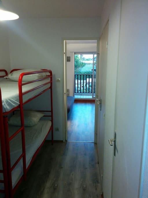 Entrée cabine (lits superposés)
