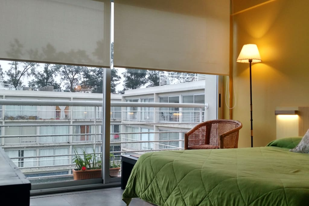 Dormitorio  que se agrega el Studio de 37 m2 transformándose en Suite de 50 m2