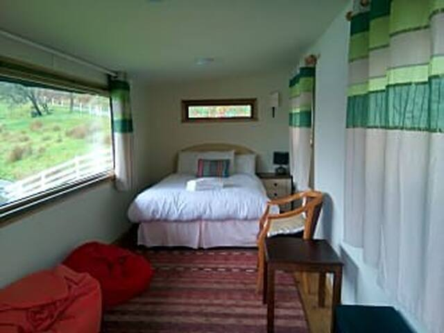 Lakeside Cabin at KindaVillage with amazing views of our 2 acre lake