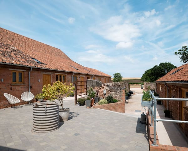 The courtyard leading to 8 bedrooms with their own private entrances.