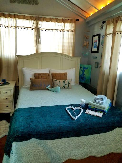Your beachy tempurpedic bed