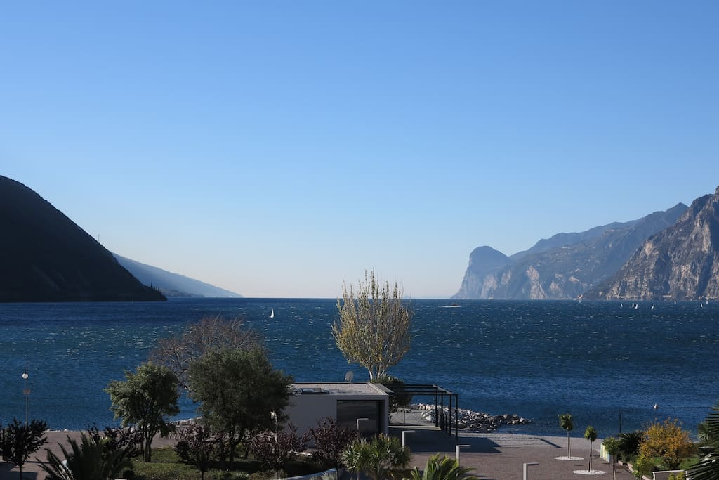 View to the Garda Lake from the terraces