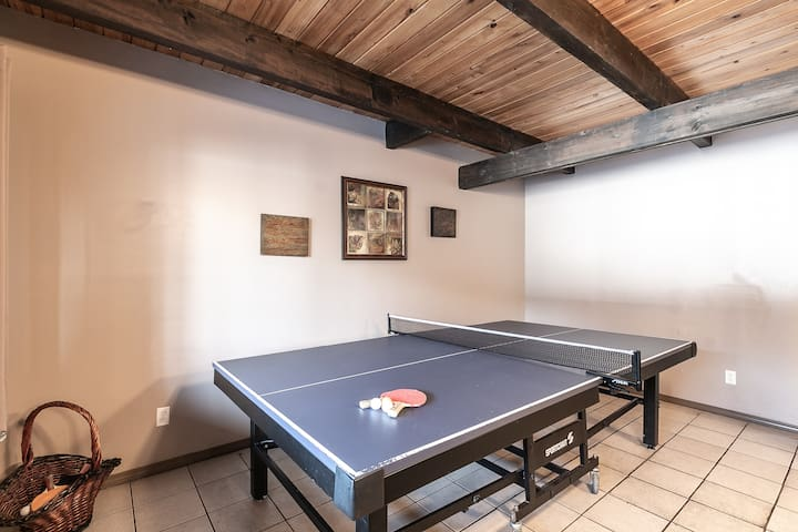 Downstairs ping pong table