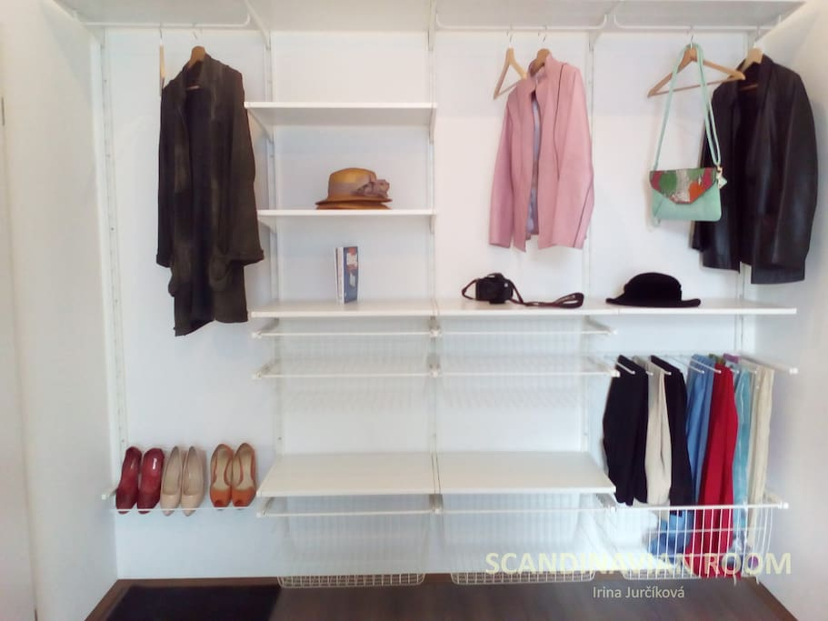 Place for coats, jackets, blazers