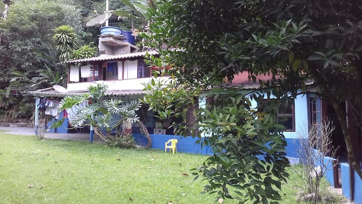 Boicucanga-flat in rustic house in Atlantic Forest