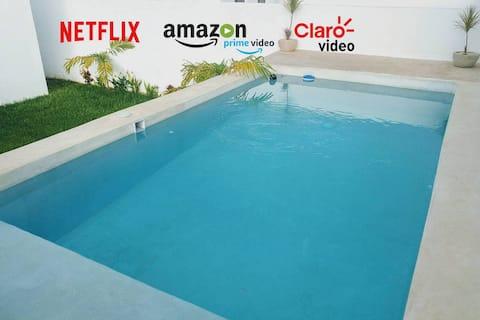 """""""Casa Azucenas"""" Alberca, Wifi, Netflix y A/C"""