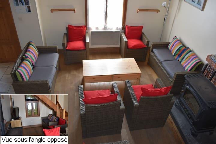 Maison conviviale et spacieuse