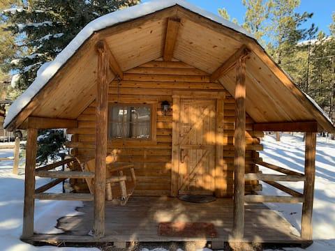 Cozy Log Cabin, sleeps 4!