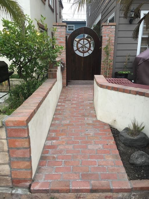 Gated side yard secured entry - to the keyless entry