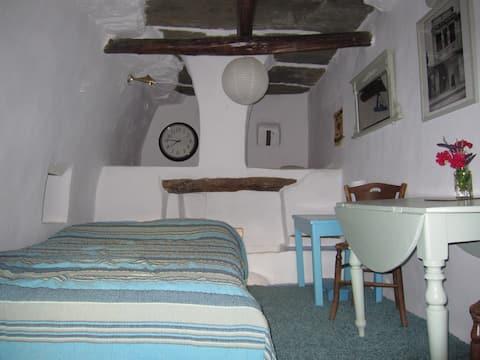 The Magic Room: a converted grape press in Arni.