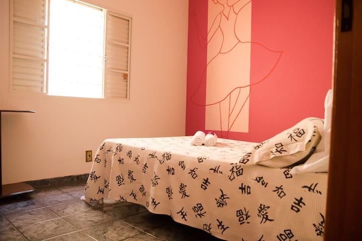 Quarto 1  - cama solteiro - ventilador de teto