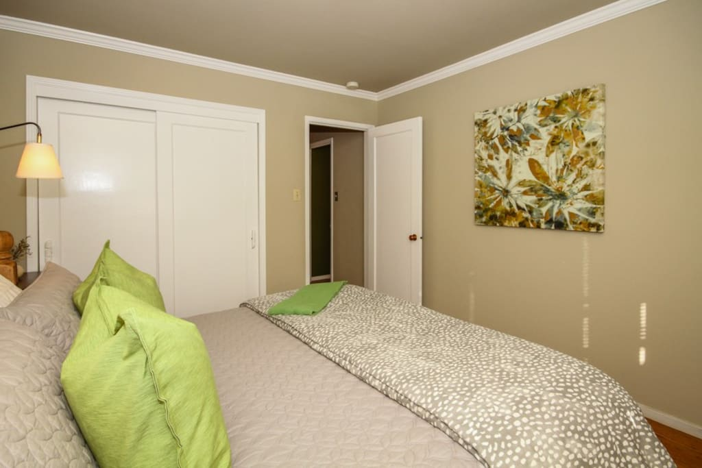 Awash with natural light, the King bedroom is both relaxing and practical with full-sized closet.
