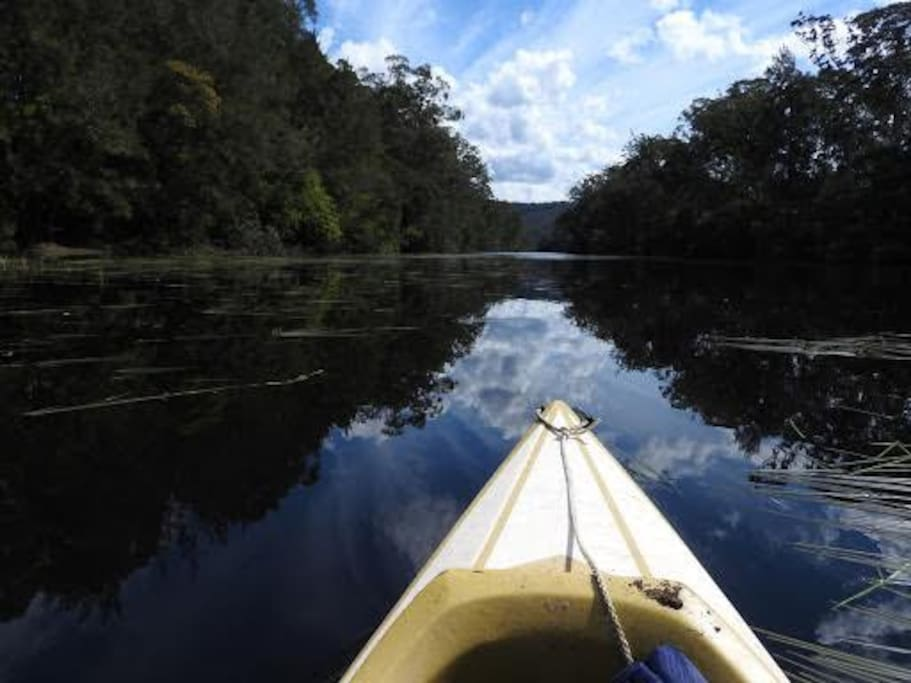 Access to one of the deepest sections of the freshwater Clyde river provides fantastic swimming and kayak opportunities