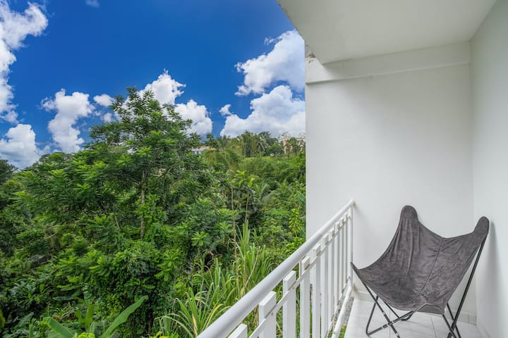 Apartment with one bedroom in Fort-de-France, with wonderful mountain view, furnished terrace and WiFi - 7 km from the beach