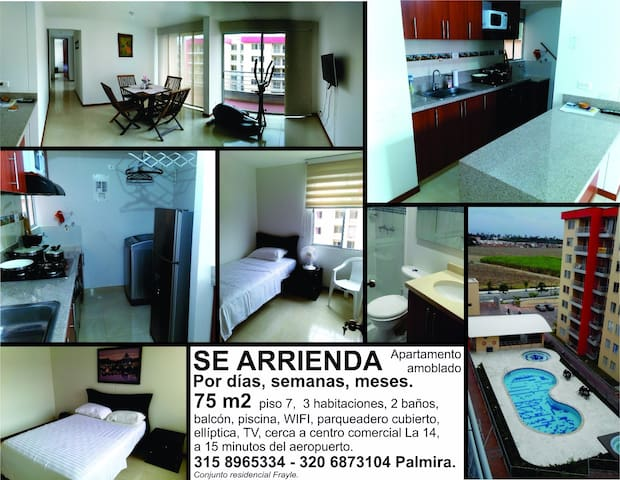 Furnished apartment in Palmira, Colombia - Palmira - Apartment