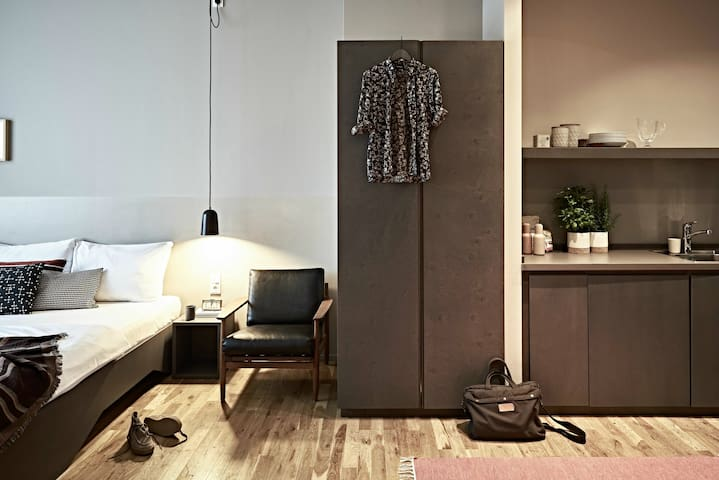 Modern studio in design hotel