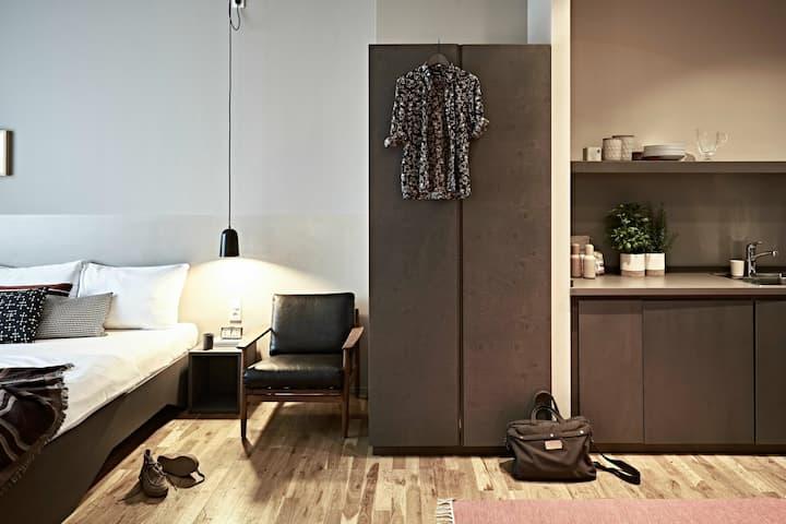 Modern studio in design hotel