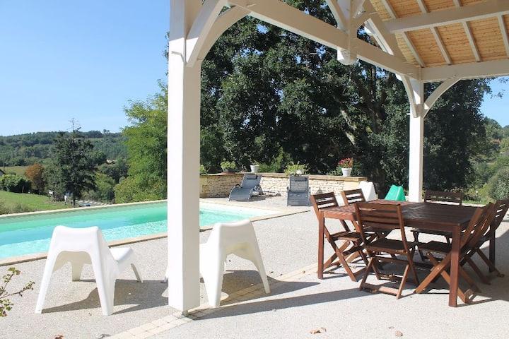 Maison  Marius et Rosalie, avec piscine chauffée
