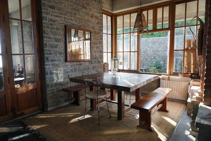 Rustic artists residence on a mountain ridge - Kasauli - House