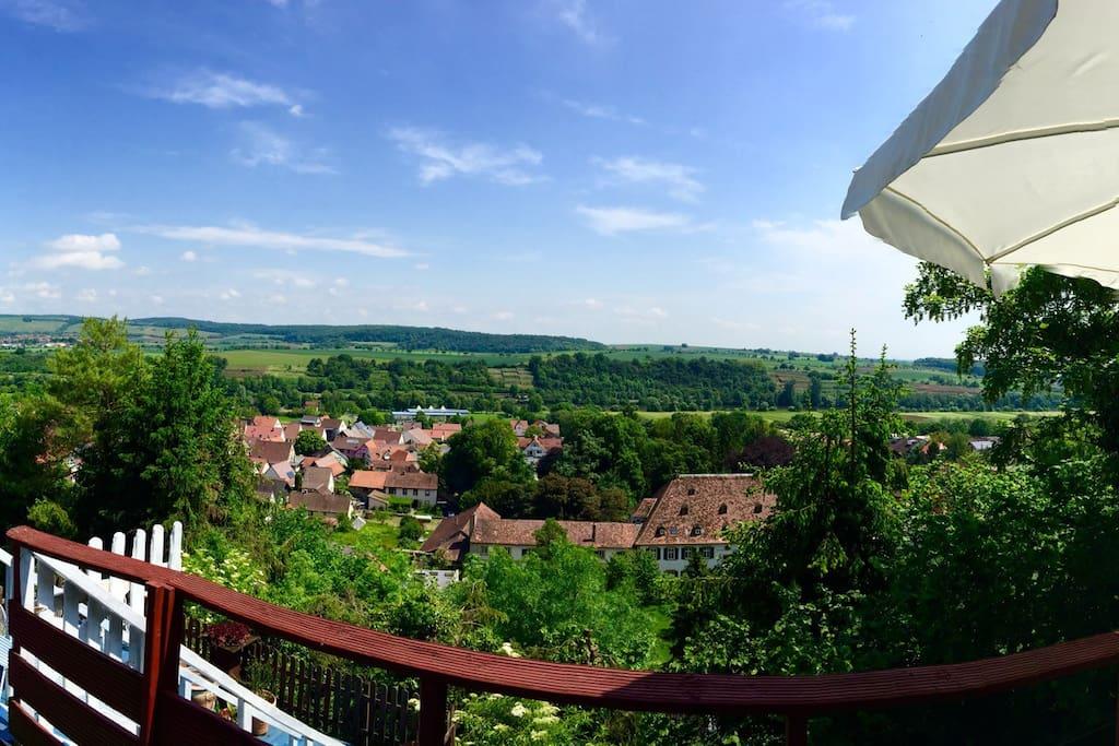 Der fantastische Ausblick vom Balkon/ fantastic view from the balkony