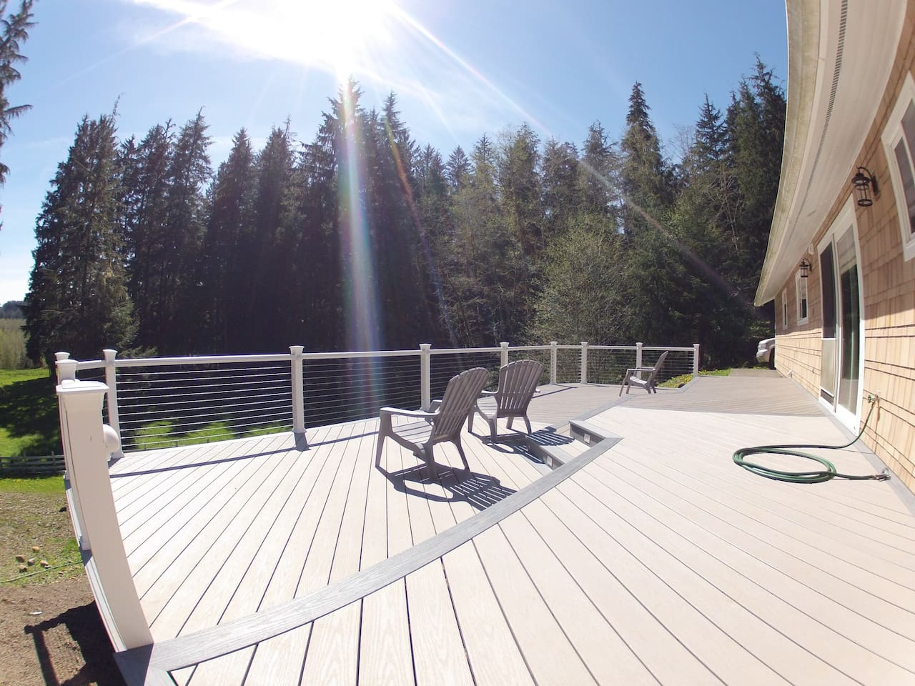 Large south-facing deck for your sunning experience