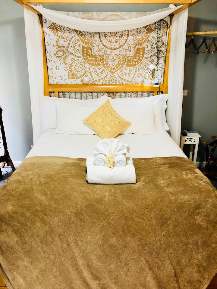Boho chic beach suite safe, sterilized retreat