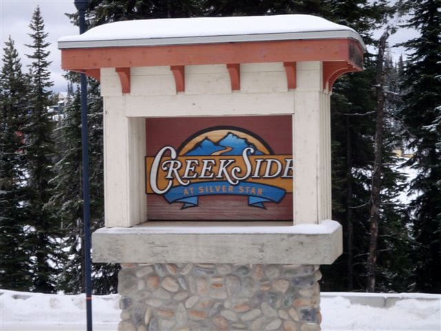 Come to Creekside - one of the most popular locations at Silver Star.