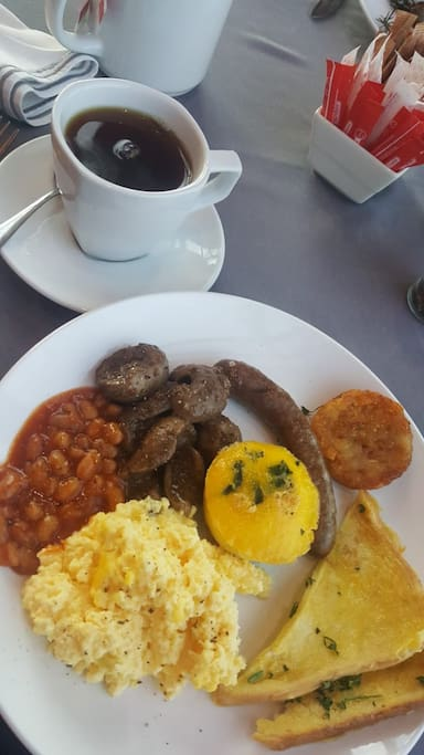 Breakfast served and Menu provided