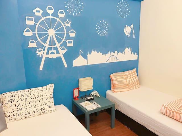 逢甲・宿 小清新自助雙人單床套房_D - Xitun District - Appartement