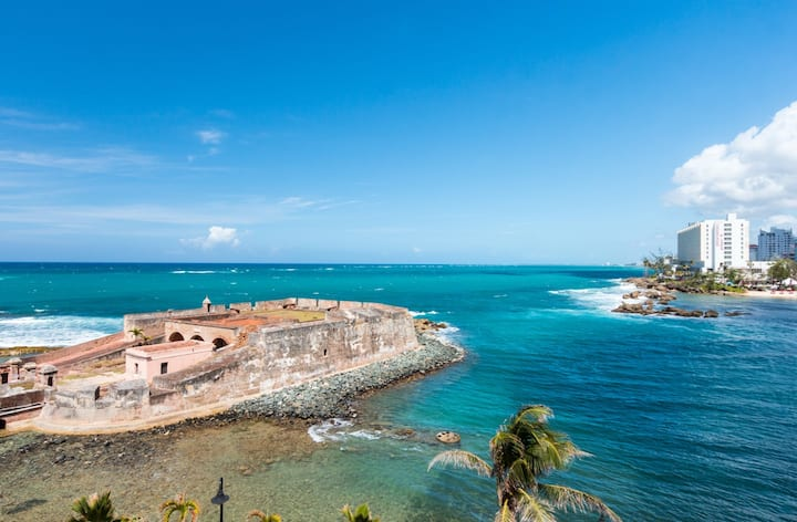 San Cristobal Studio | Oceanfront in Trendy Condado Location