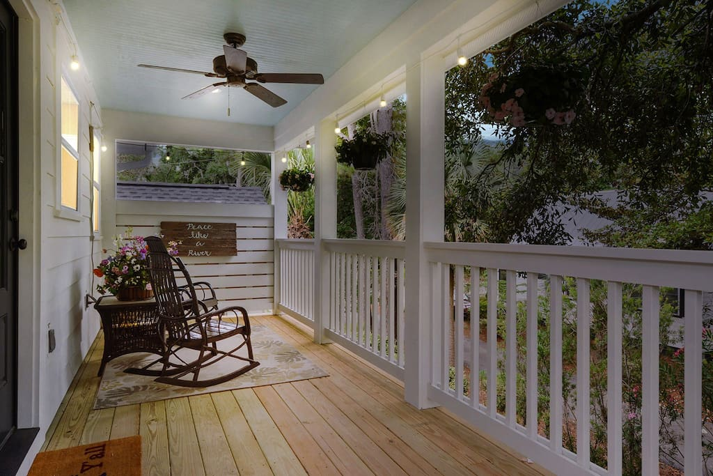 Romantic covered porch