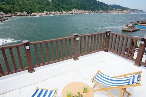 花鸟岛|感受自然海风|清新自然系|超嗲的文艺范儿-后院沙滩民宿