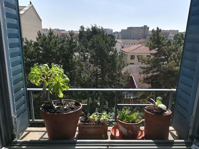Appartement calme avec vue dégagée