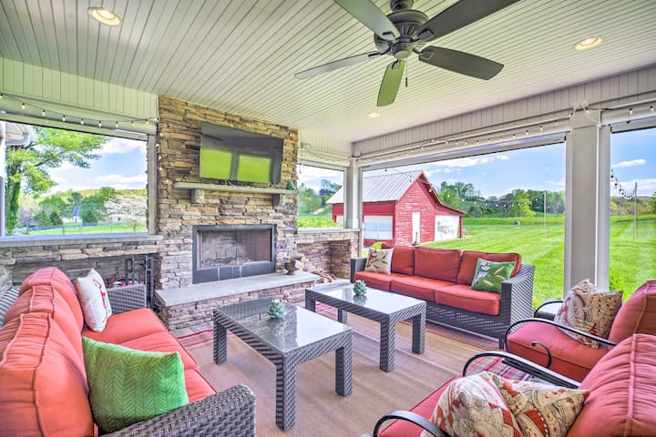 Grand LaFollette Home w/Covered Patio on 40 Acres!