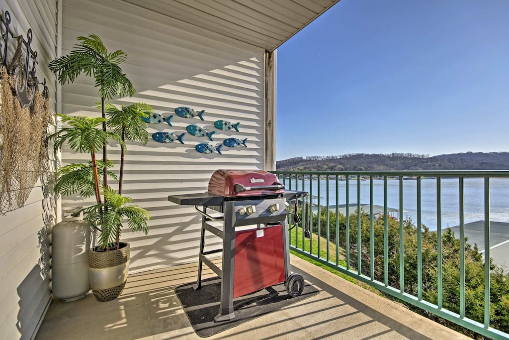Enjoy waterfront views and fire up the grill for afternoon barbecues.