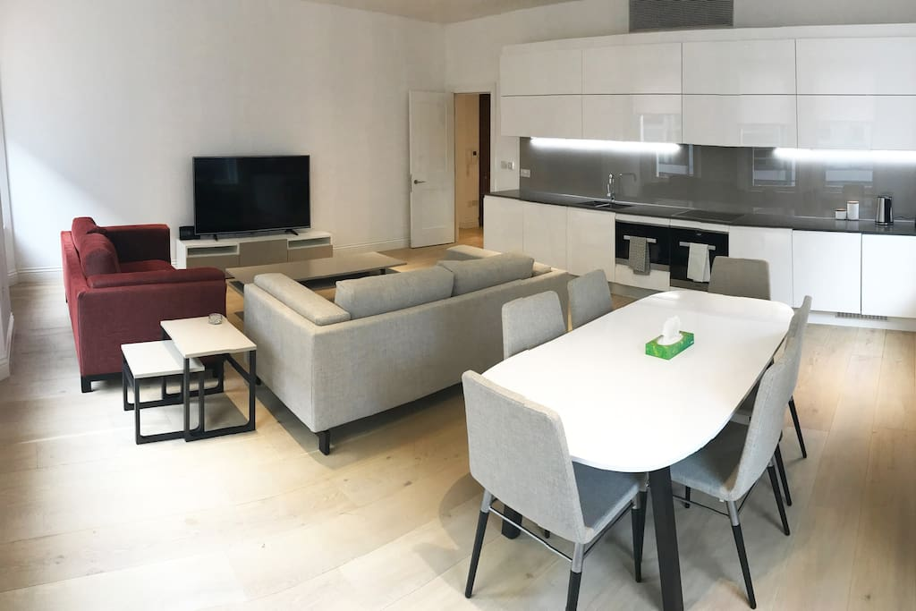 Open Plan Living Room/Kitchen/Dining area