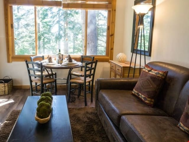Rustic Mountain Condo Close to Ski Shuttle | All Resort Fees Included!