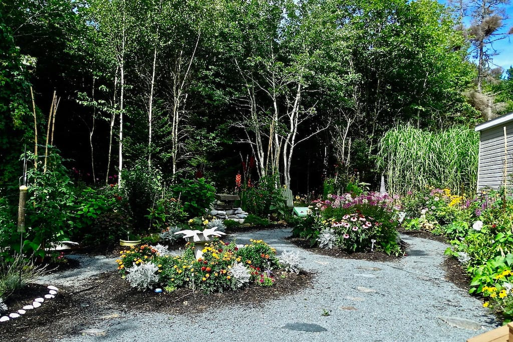 We have created paths through our woods and gardens with fountains for you to enjoy.