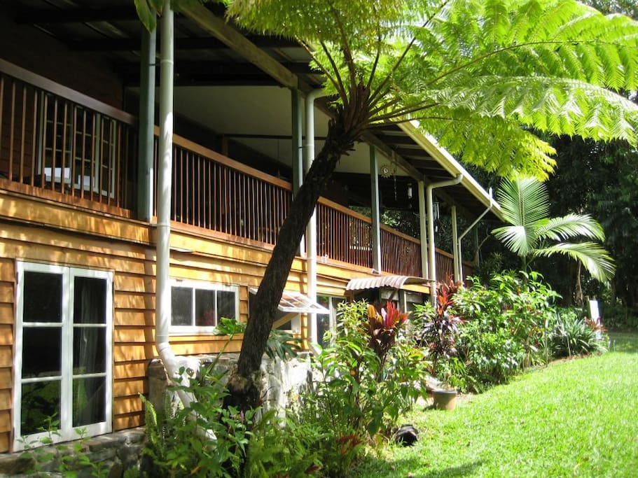 Th main accommodation house featuring 2 superior double or family rooms, a budget double room and a lovely single room.