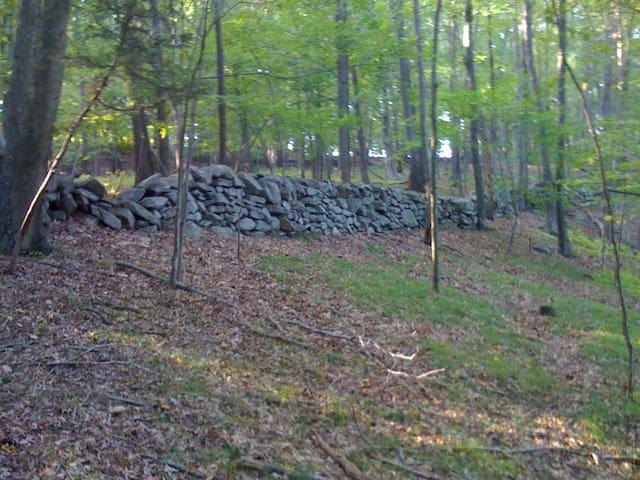Graceful stones walls adorn your views...