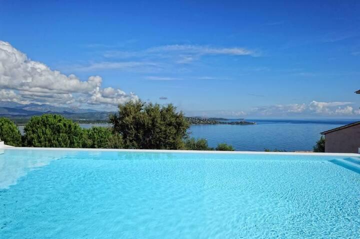 Mini Villa 4 pers - Vue mer panoramique - Piscine